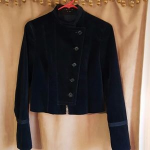Theory velvet military style jacket